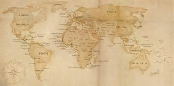 World Map Old by Pics Photos Old World Map On Vintage Paper Scroll