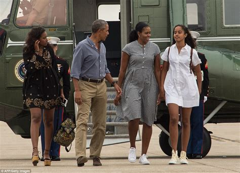 the first family president obama gives malia the paternal cold shoulder as