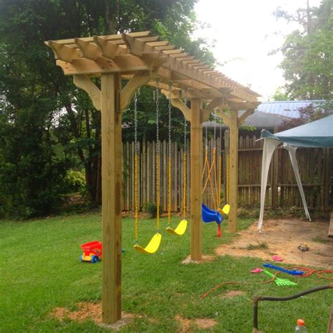steel swing set plans 25 best ideas about pergola swing on pinterest patio