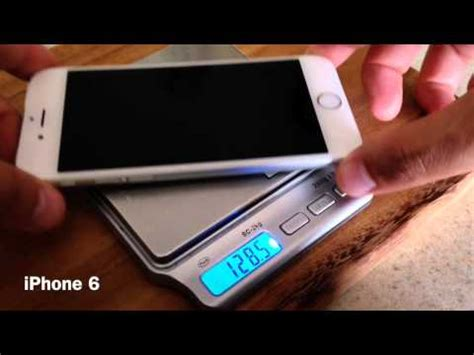 iphone 6 vs iphone 6s weight test