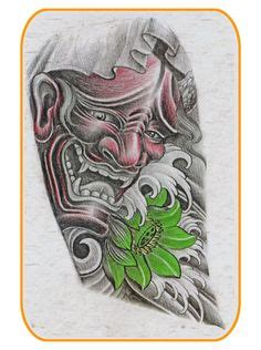 tattoo koil hannya mask ikan koil pinterest masking tattoo and
