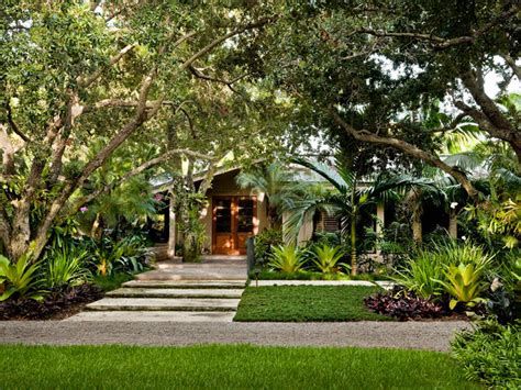 Tropical Front Garden Ideas South Miami Garden Tropical Landscape Miami By