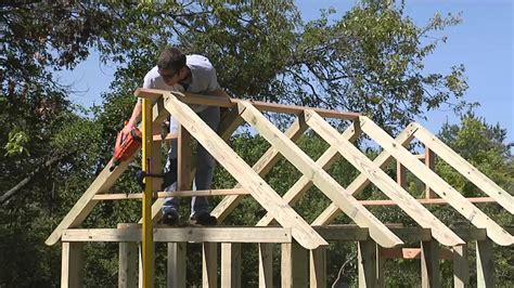 build  garden shed roof framing youtube