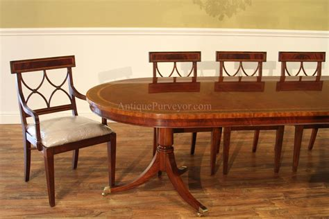 Large Oval Mahogany Double Pedestal Dining Room Table With | large oval mahogany double pedestal dining room table with