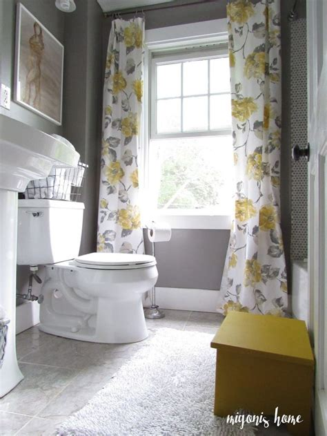 grey and yellow bathroom ideas 25 best ideas about yellow curtains on pinterest yellow