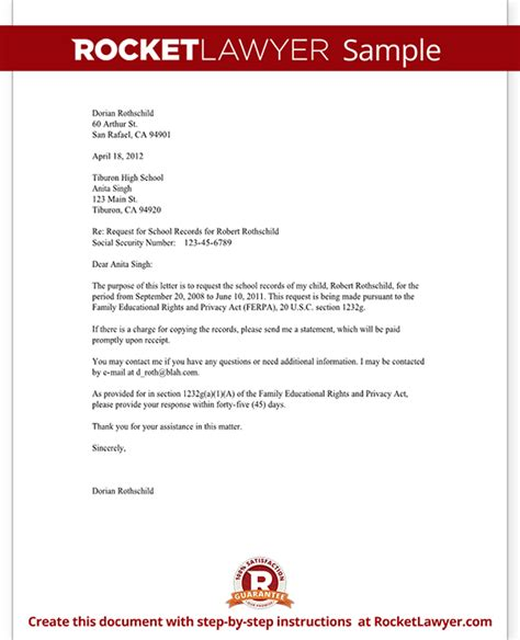 High School Transfer Request Letter Request Copy Of School Records Form With Sle