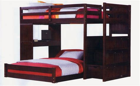 twin over full bunk beds stairs twin over full bunk bed with stairs furniture utica loft