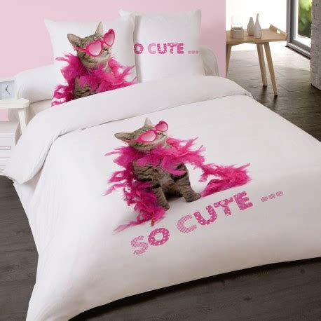 Housse De Couette Chaton by Housse De Couette Chat So Chaton 200 X 200 2 Taies