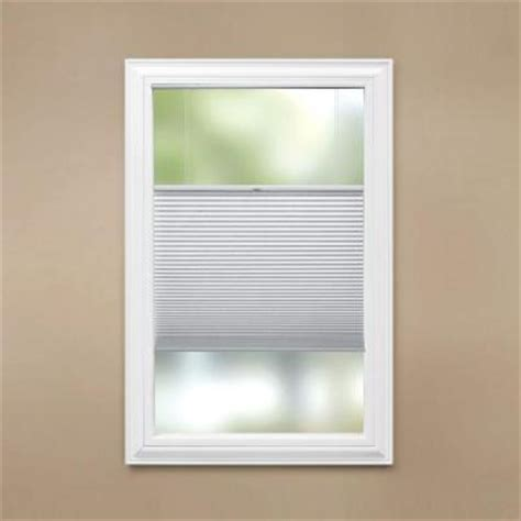 Blinds That Open From Top And Bottom Home Decorators Collection Cut To Width Snow Drift 9 16 In