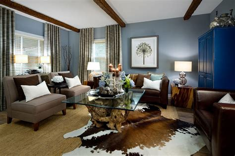 brown blue living room ideas modern house jane lockhart rustic living room modern living room