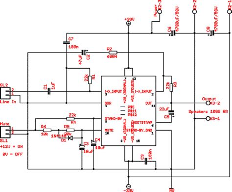 circuit power lifier ic tda7294 with pcb 80 w rms