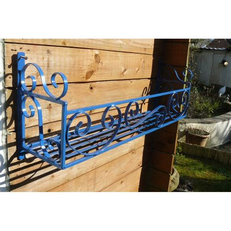 Wrought Iron Planter Box by Window Box Trough Holder 46in Length