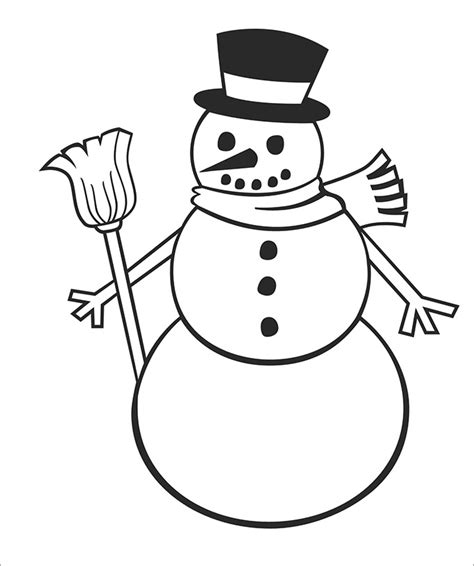 simple snowman coloring page snowman template snowman crafts free premium templates