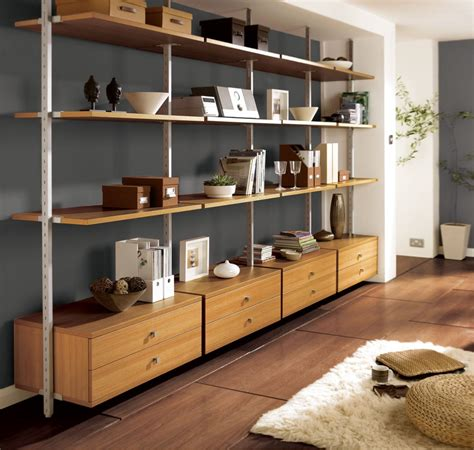 open shelving units living room peenmedia