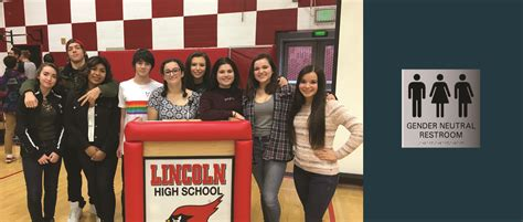 lincoln high school district lincoln high school pioneers multi stall gender neutral