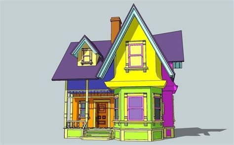 up movie house house from animation movie up 3d model cgtrader
