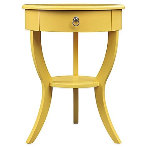 Yellow Accent Table Buy Home Jolene Accent Table In Yellow From Bed Bath Beyond