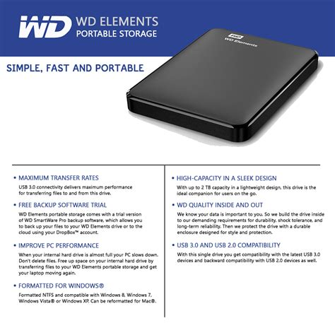 Wd Elements 750gb Hd Hdd Hardisk Harddisk External western digital elements 750gb portable drive usb3 0