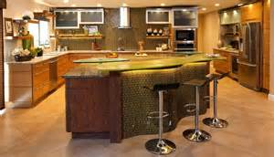 Curved kitchen island with counter stools home decorating trends