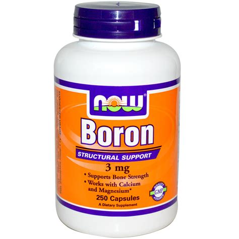 supplement boron now foods boron 3 mg 250 capsules iherb