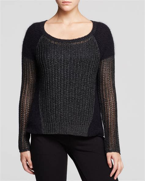 Jumper Bluefly 5 In 1 Kutung lyst eileen fisher mixed stitch color block sweater the fisher project in black