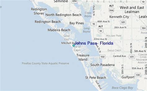 map of johns pass florida johns pass florida tide station location guide
