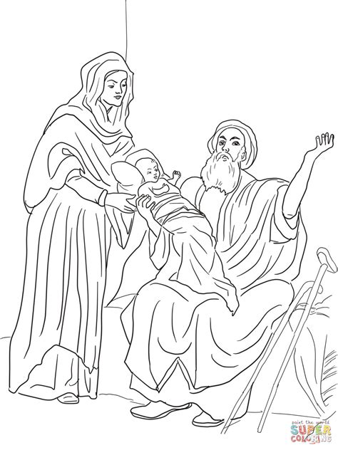Coloring Pages Baby Jesus In The Temple | baby jesus in the temple coloring page free printable