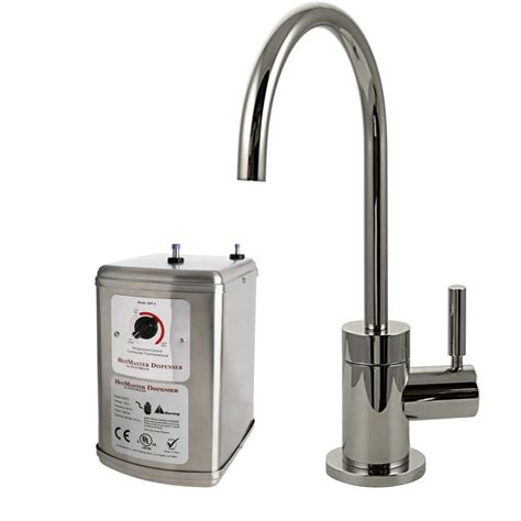 Dispenser And Cold westbrass contemporary single handle and cold water dispenser faucet in polished nickel with
