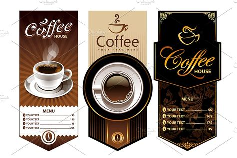 coffee shop graphic design 3 coffee shop banners illustrations creative market
