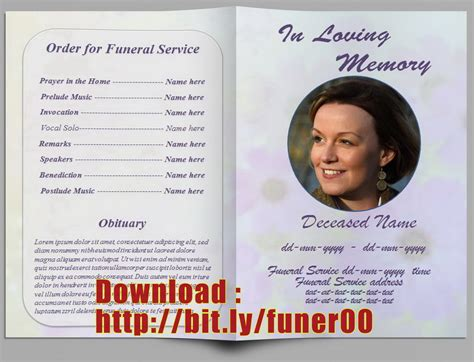 Editable Funeral Program Template Microsoft Word Templates Resume Exles Ymam5vxad9 Free Funeral Program Templates For Microsoft Word