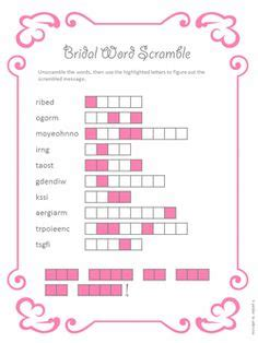printable word games for parties tasha s bridal shower on pinterest bridal shower games
