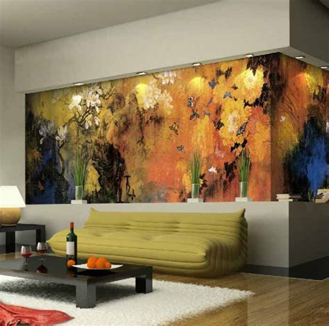 Living Room Mural | 10 living room designs with unexpected wall murals decoholic