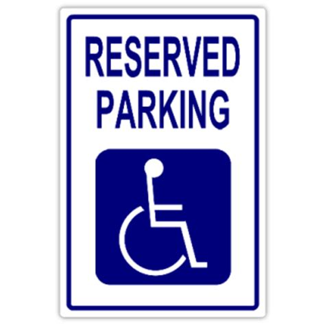 reserved parking 109 handicap parking sign templates