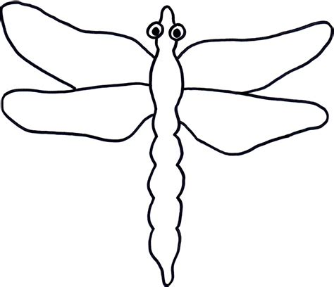 insect templates dragonfly outline clipartion