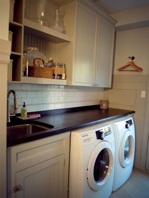Martha Stewart Kitchen Cabinets Home Depot by White Wood Completed Laundry Room
