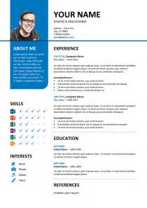 Color Resume Templates Bayview Stylish Resume Template