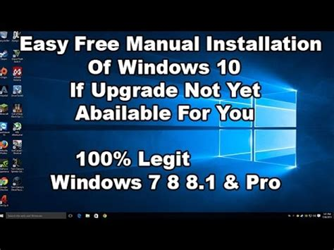 install windows 10 manually how to install windows 10 manually if upgrade option is