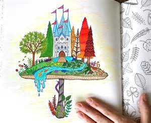 enchanted forest colored coloring for grown ups given to see