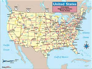 united states time zones interstate highways map by maps