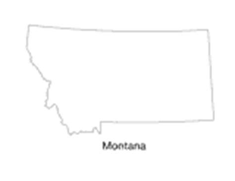 blank map of montana montana state map printable pre k 12th grade