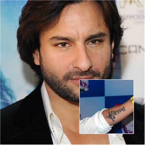 tattoo saif ali khan saif ali khan