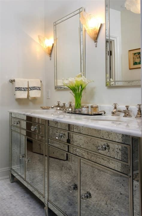 mirrored bathroom vanities antique mirrored bathroom vanity hollywood regency