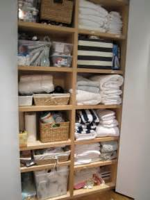 Linen Closet Storage by T H E O R D E R O B S E S S E D What I Did Today