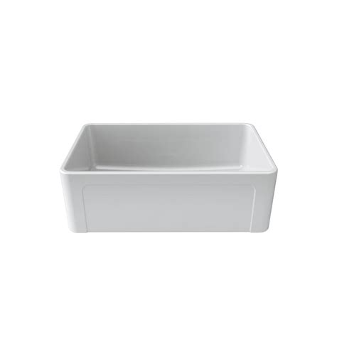 white single bowl kitchen sink latoscana reversible farmhouse apron front fireclay 30 in