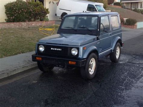 1986 Suzuki Samurai For Sale Buy Used 1986 Suzuki Samurai Jx Sport Utility 2 Door 1 3l