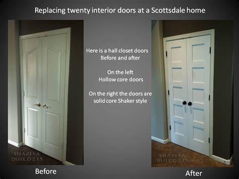 Replacing Interior Doors by Replacing Interior Hollow Doors With Solid Shaker