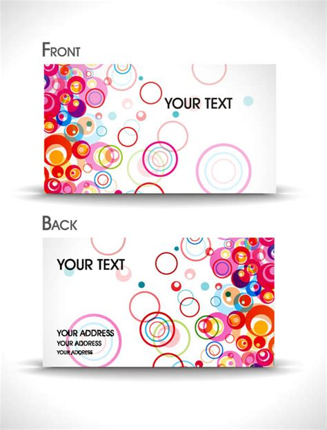 abstract business cards templates free dynamic abstract business card templates vector free