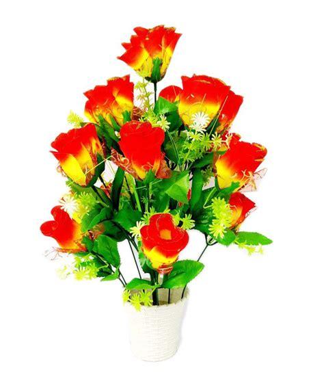 kaykon big pink flower vase with flowers best price in