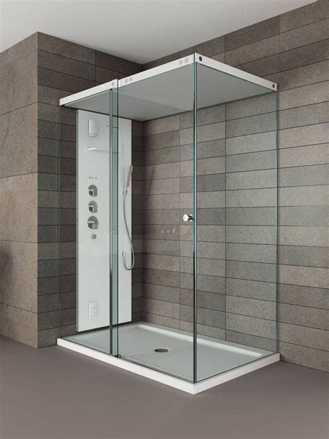 enclosed bathroom light ll box doccia light di teuco con tetto e piatto in