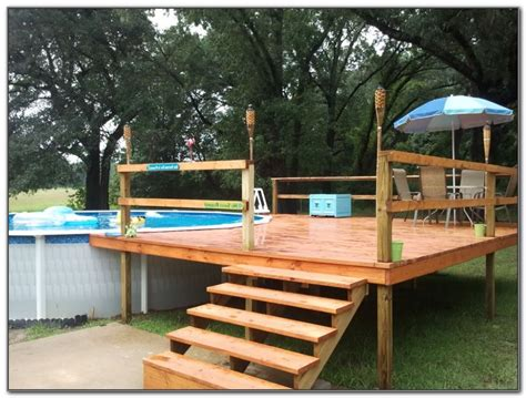 decks amazing  ground pool deck kits   backyard idea revosnightclubcom